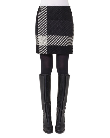 Akris punto Oversized-Plaid Mini Skirt and Matching Items