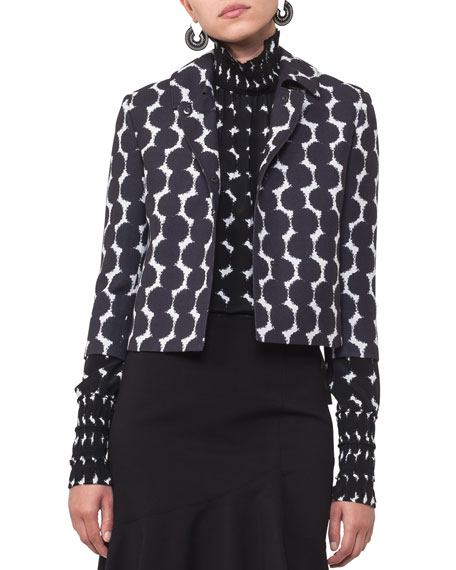 Akris punto Punto Dot Lace Cropped Jacket and