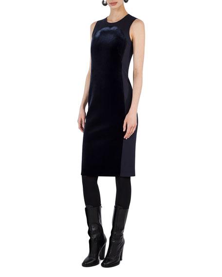 Sleeveless Velvet Shift Dress
