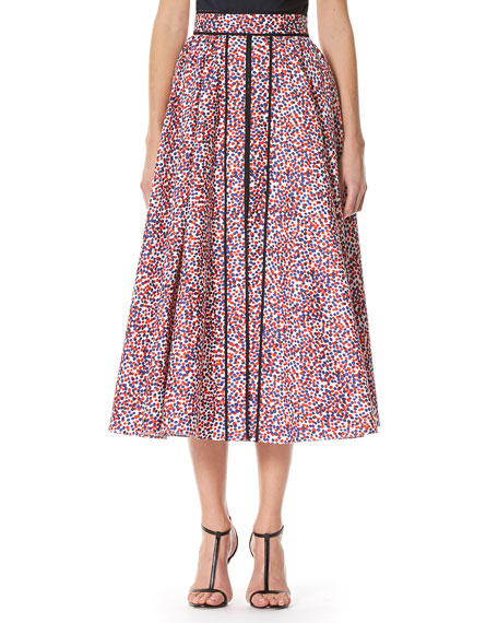 Carolina Herrera Polka-Dot A-line Midi Skirt, Multicolor and