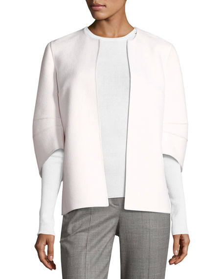 Michael Kors Collection Featherweight Ribbed Cashmere Sweater,