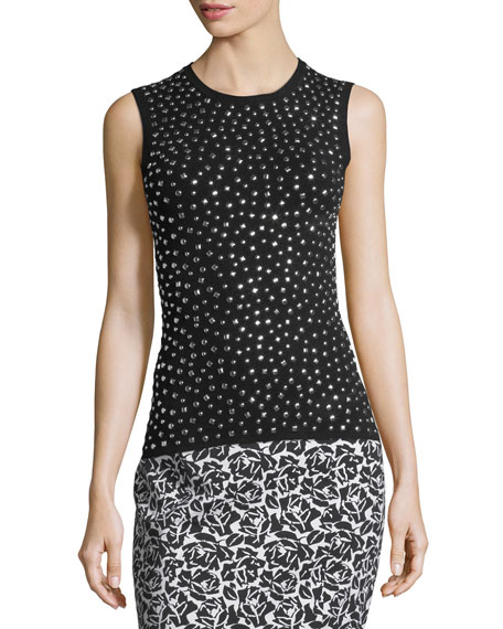 Michael Kors Collection Studded Knit Shell Tank and