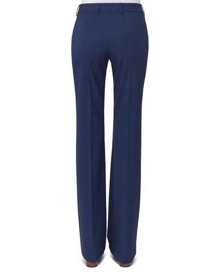 Marylin Slim Flare-Leg Pants, Blue