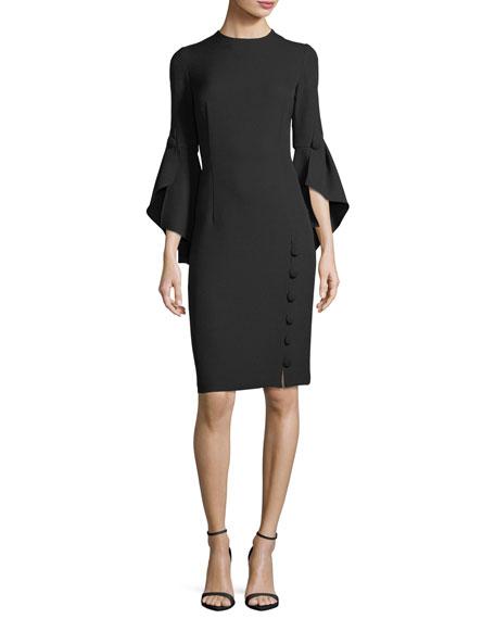 Prabal Gurung Asymmetric Ruffle-Sleeve Dress