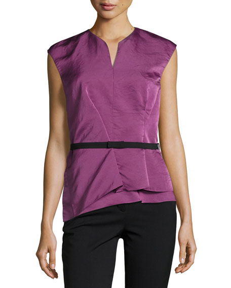 Narciso Rodriguez Narciso Rodriquez Belted Modern Peplum Silk