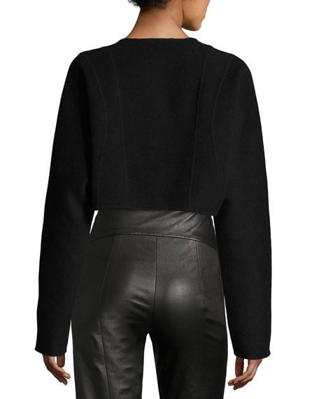 Cashmere Cocoon Bolero, Black