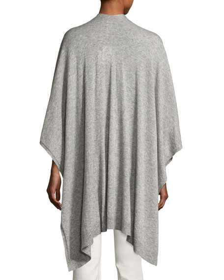 Hern Cashmere-Silk Cape, Light Gray