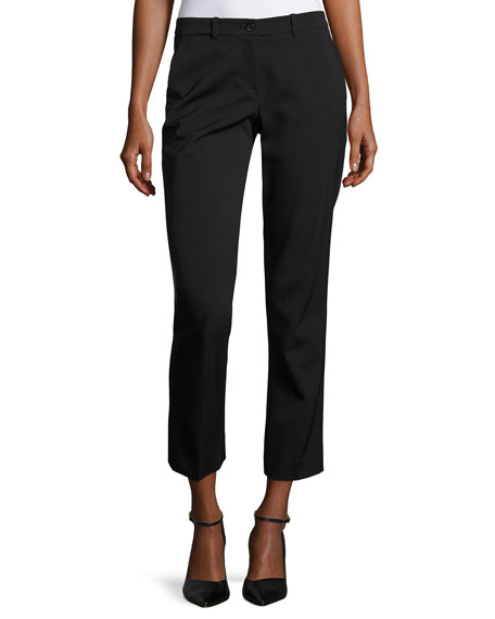 Michael Kors Collection Samantha Cropped Straight-Leg Pants,