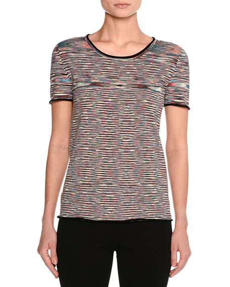 Missoni Space-Dye Crewneck T-Shirt, Multicolor