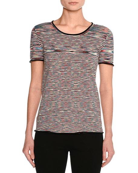 Space-Dye Crewneck T-Shirt, Multicolor