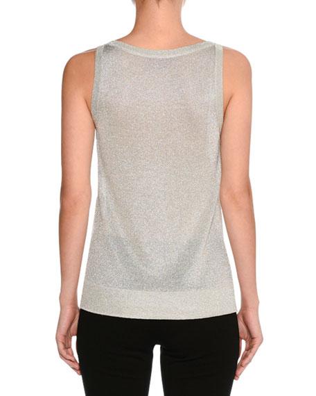 Lurex® Metallic Shell Top, Silver