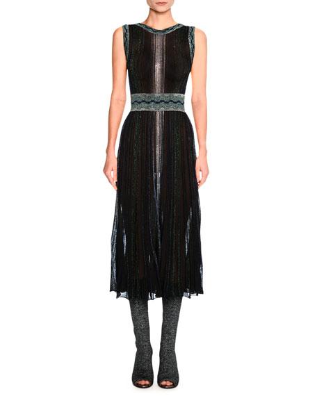 Missoni Sleeveless Lurex® Metallic Midi Dress, Black