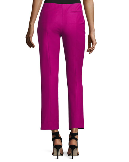 Tech Stretch-Cotton Slim Cropped Pants