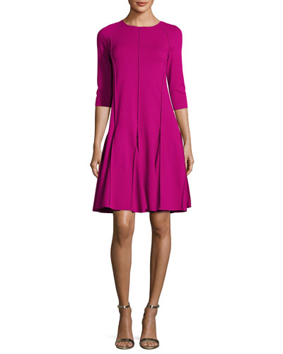 Milano Jersey Seamed Fit & Flare Dress