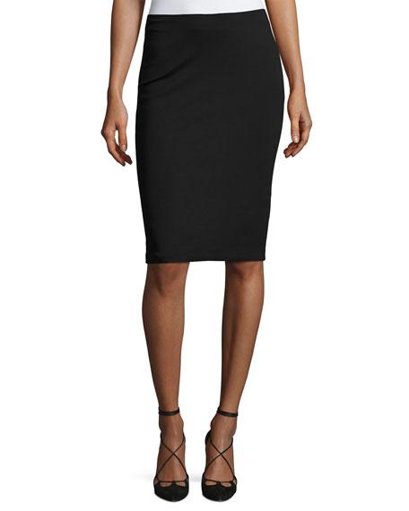 Armani Collezioni Milano Jersey Pencil Skirt, Black