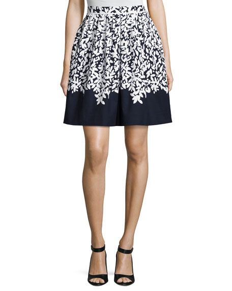 Oscar de la Renta Graphic Leaves Full Circle
