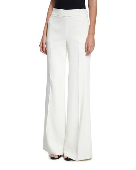 Oscar de la Renta Lace Bell-Sleeve Shirt, White