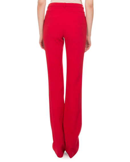 Jane Straight-Leg Pants, Ruby