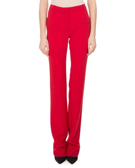 Altuzarra Jane Straight-Leg Pants, Ruby