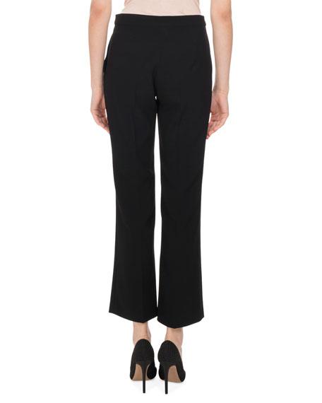 Nettle High-Rise Flare-Leg Pants, Black