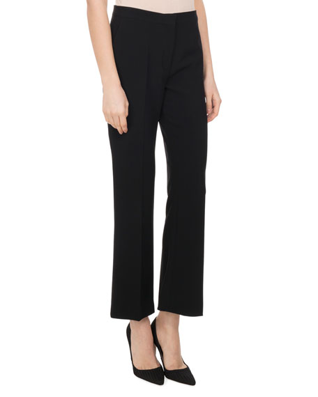 Altuzarra Nettle High-Rise Flare-Leg Pants, Black