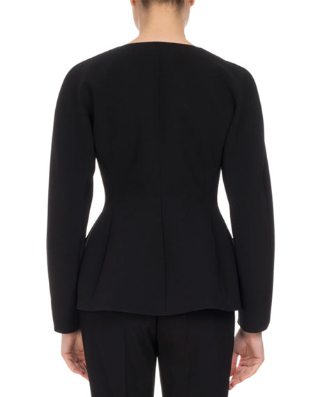 Campion Sculpted Zip-Front Jacket, Black