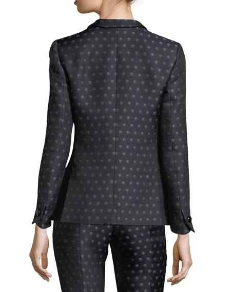 Dot Jacquard One-Button Jacket