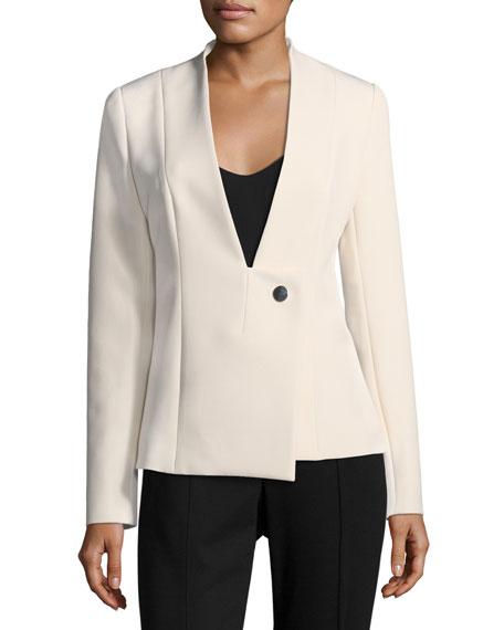 Cushnie Et Ochs Brianne Jacket w/ Asymmetric Closure