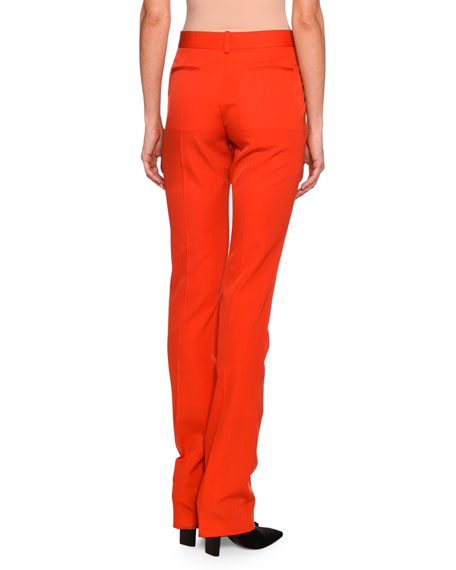 Jodi Wool Skinny Pants, Bright Red
