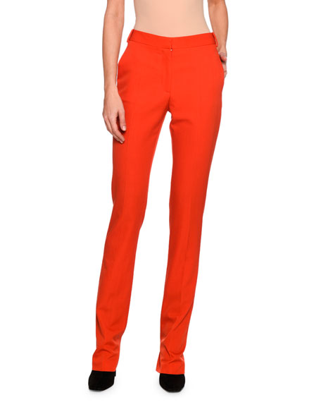 Jodi Wool Skinny Pants, Bright Red