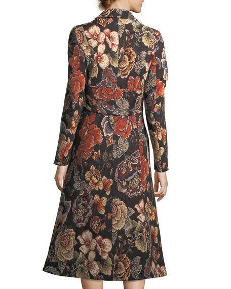Vivienne Floral Brocade Dress Coat