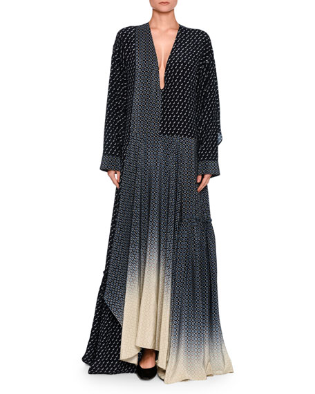 Stella McCartney Dominique Scottie Mixed-Print D??grad?? Maxi