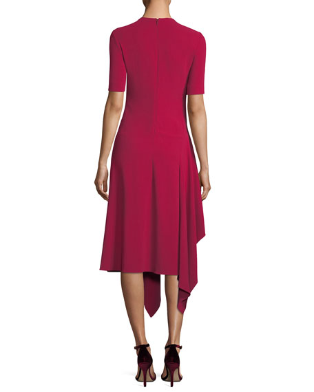 Francesca Handkerchief-Hem Midi Dress
