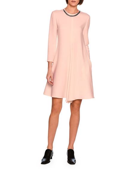 Emily Swing Dress with Falabella Chain, Rose
