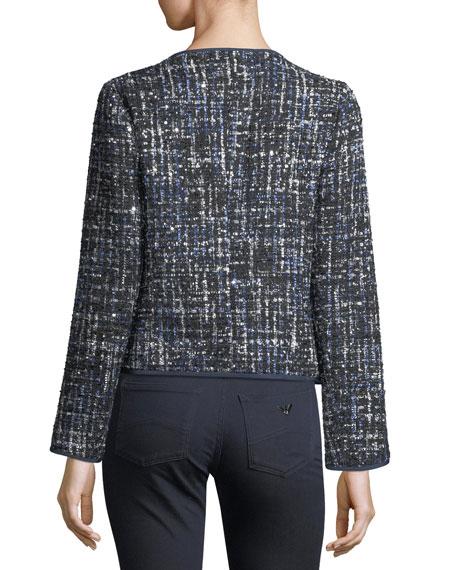 Lurex Tweed Zip-Front Jacket