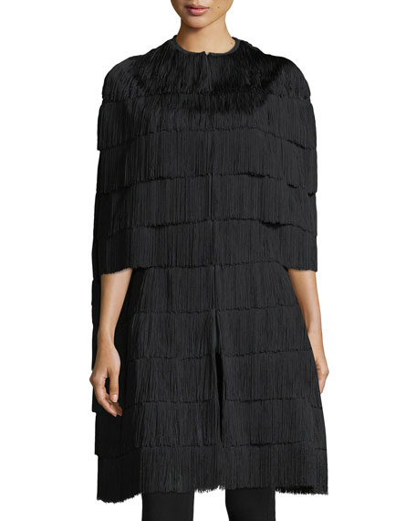 Meina Tiered Fringe Cape