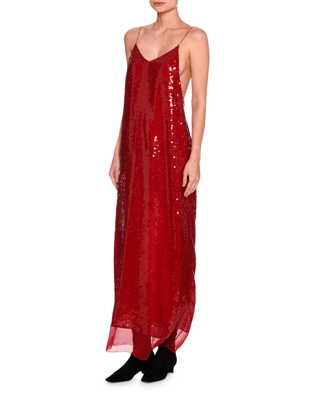 f4eb549640ee3 Stella McCartney Bernice Sequined Cami Gown | Neiman Marcus