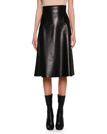 Black Leather Skirt | Neiman Marcus