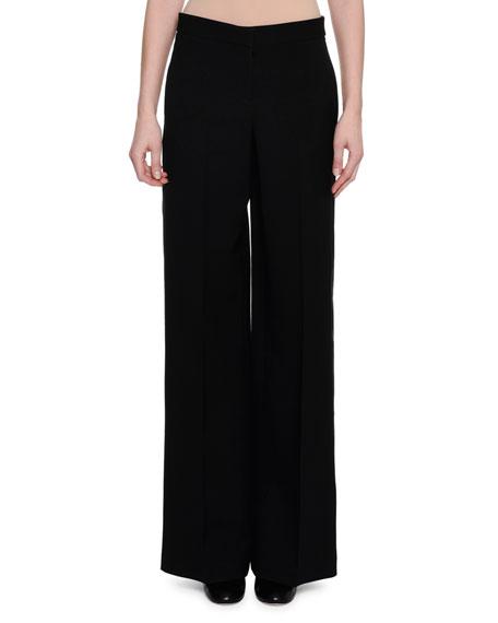 Alexander McQueen Wide-Leg Tuxedo Pants, Black
