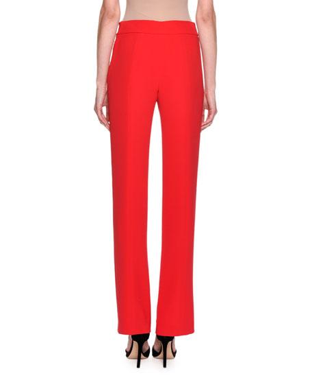 Silk Wide-Leg Pants, Rose Pink