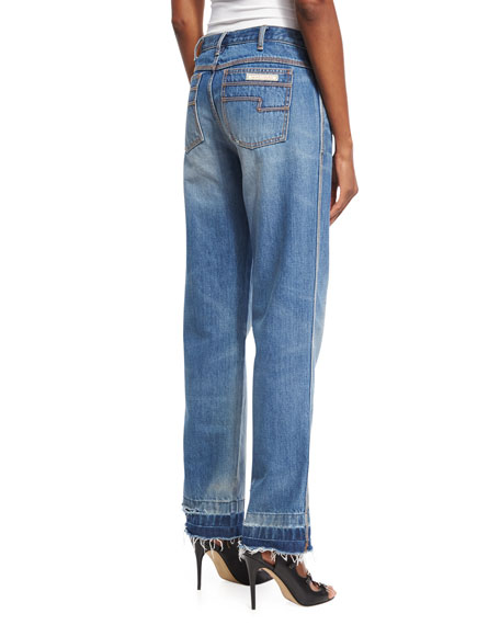 Released-Hem Boyfriend Jeans, Indigo