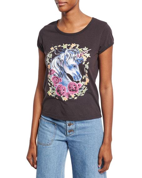 Marc Jacobs Magical Unicorn T-Shirt, Black
