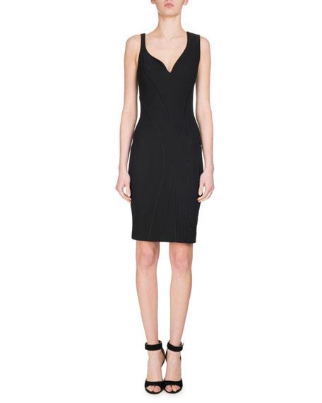 Givenchy Sleeveless Sweetheart Pencil Dress, Black