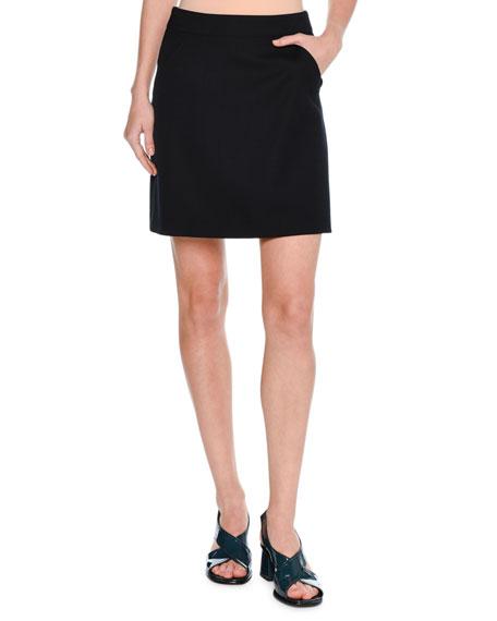 A-line Miniskirt, Dark Blue