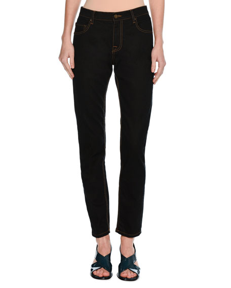 Classic Mid-Rise Straight-Leg Jeans, Navy