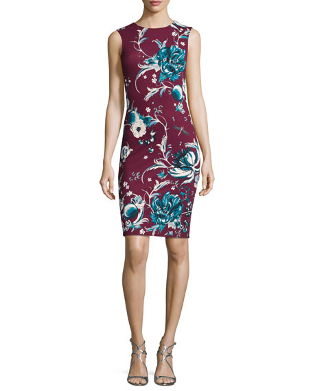 Forbidden Fruit Fitted Sleeveless Dress, Magenta