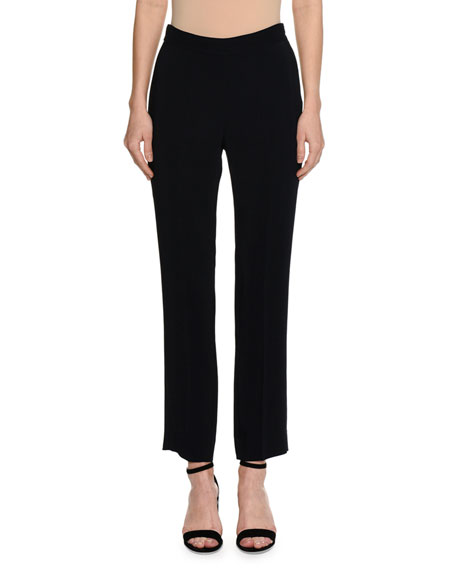 Piazza Sempione Contrast-Tip Mock-Neck Sweater, Black and