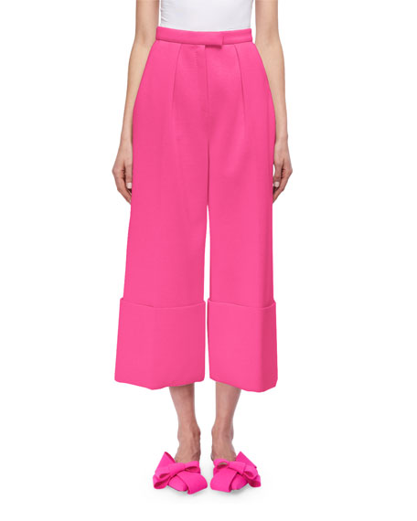 Delpozo Cuffed Wide-Leg Pants, Blue and Matching Items