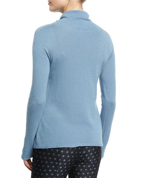 Cashmere Turtleneck Sweater, Medium Blue