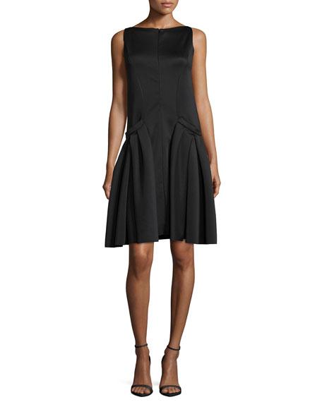 Polished Jersey Drop-Waist Dress